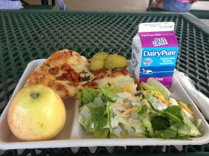 School Lunch at Meiners Oaks Elementary 9/27/16